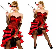 Ladies Burlesque Costume Wild West Show Girl Bar Girl Fancy Dress Outfit