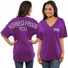 TCU Horned Frogs Women's Spirit Jersey Oversized T-Shirt - Purple - NCAA