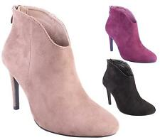 WOMENS PLATFORM WORK ZIP SHOES ANKLE BOOTS HIGH HEEL STILETTO LADIES