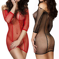 Women's Underwear Sexy Lingerie Nightwear Babydoll Sleepwear Fishnet Dress Hot