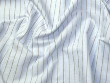 Italian Woven Pinstripe Cotton Shirting Dress Fabric (MV-XA51-SkyGrey-M)
