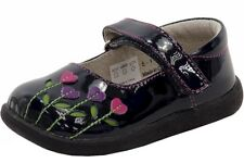 See Kai Run Toddler Girl's Tricia Navy/Berry Patent Leather Mary Janes Shoes