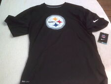 NWT Nike dri fit T, men's S, black, Pittsburgh Steelers, polyester, NFL