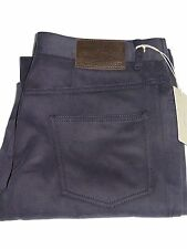 Nwt BRIONI Italy Men's Stelvio Meduim Blue Twill Cotton Pants Slacks Trousers