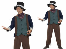 Adults Dickens Victorian Poor Man Costume Tudor Fancy Dress Outfit