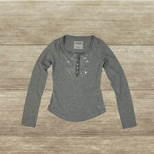 ABERCROMBIE KIDS GIRLS TEE SHIRT LONG SLEEVE NEW SIZE S, GREY