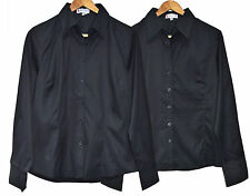 Ladies New Formal Smart Long Sleeve Shirt Work Office Button Up Collared Blouse