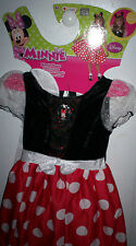 NEW Disney MINNIE MOUSE Girl Child Dress Up Costume Disguise Small Medium