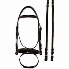 Bobby's Event Padded Bridle w/Flash & Reins - Brown w/Black - Cob & Horse