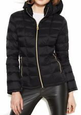 MICHAEL MICHAEL KORS Black Quilted Hooded Down Packable Puffer Jacket Coat