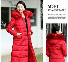 Winter warm lady Parka long Fur Collar Hooded Down Coat Quilted Jacket plus size
