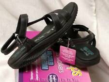 Skechers Shape-Ups Black Fitness Walkers Tone It Womens 9 & 10 Sandals $80 New