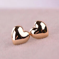 1 Pair Cute Women Heart Shape Silver/Gold Gold Ear Stud Earrings Wedding Gift