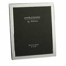 "Personalised Engraved Options Silver Plated Flat Edge 8 x 10"" Photo Frame Gift"