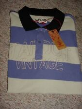 NEW MENS TAPOUT VINTAGE BAR STRIPED BLUE POLO SHIRT SIZE L XL TAP OUT NWT