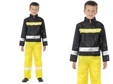 Childrens Fireman Boys Fancy Dress Costume Firemans Outfit Ages 4-12 Years