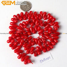 "Top Drilled Drop Coral Beads For Jewelry Making 15"" Jewelry Beads Wholesale"