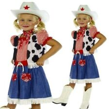 Child Cowgirl Sweetie Costume Wild West Fancy Dress Outfit + Hat