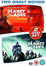 2 FILMS = PLANET OF THE APES 1968 & PLANET OF THE APES 2001  = VGC