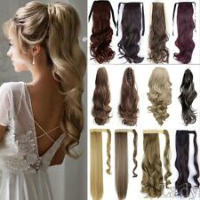 Clip on Claw Ponytail Clip in 100% Real Hair Extensions Natural As Human Hair T5