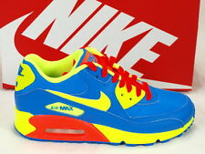 Nike Air Max 90 GS Photo Blue Volt Hyper Crimson Girls Youth Running 307793-410