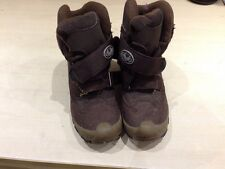 SNOW BOOTS brown size uk 1.5 eu 32 33. Waterproof. GUC Boys  (R)