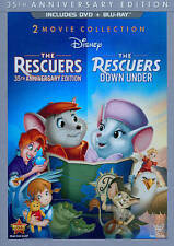 The Rescuers: 35th Anniversary Edition/The Rescuers Down Under (Blu-ray/DVD,...