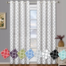 "Meridian Room Darkening Grommet Window Curtain ( 104"" Wide 84"" Long ) Pair"