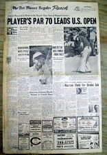 3 1974 hdlne newspapers Palmer PLAYER Watson US OPEN GOLF TOURNAMENT Winged Foot