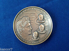 1972 Apollo 17 Farewell Mission to the Moon Bronze Art Medal E4378