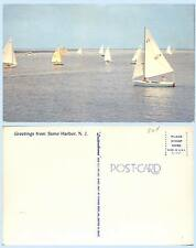 Greetings from Stone Harbor Sailboat Race New Jersey Postcard