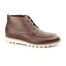 Kickers KYMBO MOCC Mens Laced Casual Comfy Classic Leather Moccasin Boots Brown