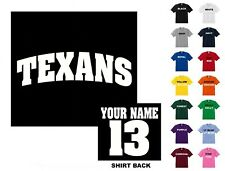 Texans College Letters Football Custom T-shirt #255 - Free Shipping