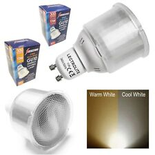 PACK OF GU10 SPOT LAMP CFL LIGHT BULBS 11w=60w WARM or COOL WHITE ENERGY SAVING