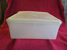 Vintage Retro Tupperware Large White Square Keeper Container 70's