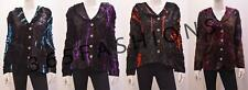 PLUS SIZE GOTHIC HIPPIE BOHO TIE DYE STRIPED VELVET COLLARED JACKET 18 20 22
