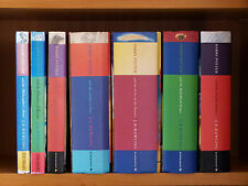 HARRY POTTER Philosopher's Stone; READING SET OF 7 HARDBACK 1st Ed Books NO DJ's