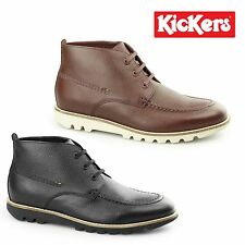 Kickers KYMBO MOCC Mens Leather Lace Up Casual Comfy Classic Moccasin Toe Boots