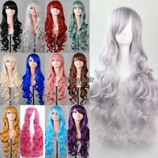Womens Lady Full Wig Curly Wavy Halloween Anime Cosplay Party Full Wigs gjsadgd5