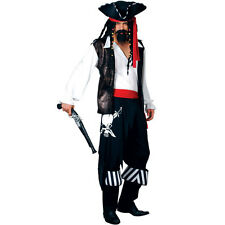 Mens High Seas Buccaneer Costume for Pirate Fancy Dress Mans Male