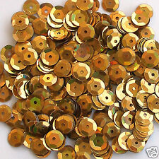 Sequins Gold Magic 5mm Round Cup ~1000 pieces / ~12,500 pieces Loose HQ