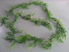 6FT PLASTIC  ARTIFICIAL GREEN LEAF GARLAND/FOLIAGE./WEDDING/ CAGES