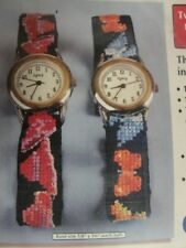 Red Hat Butterfly Sudberry House Counted Cross Stitch Needlepoint Watch Kit READ