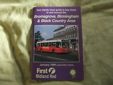 First Bus Midland Red Bromsgrove Birmingham Black Country Bus Timetable 1999