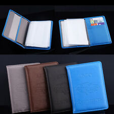 Russian Auto Driver PU Leather Car Driving Documents Card Holder Purse Wallet TO