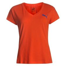 Puma Womens Elevated T Shirt Cotton DryCell Sports Short Sleeve Crew Neck Tee