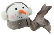 "RAZ Imports - Winterberry - Snowman Head Tree Topper (9"" with Ear Muffs)"
