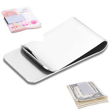 New Slim High Quality Slim Money Clip Credit Card Holder Wallet Stainless Steel