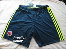 BNWT Adidas 2015/2016 COLOMBIA Climacool Soccer Football Home Team Shorts S27044