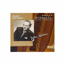Great Pianists of the 20th Century - Julius Katchen, Vol.1 Audio CD